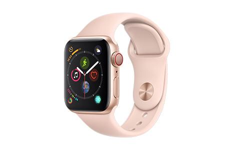 apple watch series 4 40mmゴールドアルミニウムケースとピンクサンド