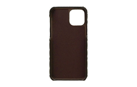 iPhone 12 Pro Max用 COACH(R)ハードケース/EMBOSSED Black