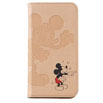 AQUOS U SHV37 ブックタイプケース/Disney pass Typography Mickey SILHOUETTE