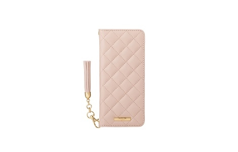 Xperia 10 II GRAMAS COLORS QUILT Leather Case/Pink Beige