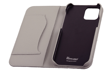 Blanccoco NY-BIG Heart Leather Case for iPhone 12 mini/Snow Gray