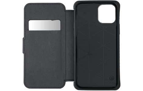 iPhone 12_iPhone 12 Pro用 TUNEWEAR ANTI-SHOCK HYBRID CARD FOLIO/Black