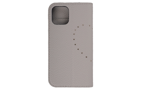 Blanccoco NY-BIG Heart Leather Case for iPhone 12_iPhone 12 Pro/Snow Gray