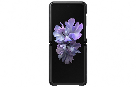 Galaxy Z Flip LEATHER COVER/BLACK
