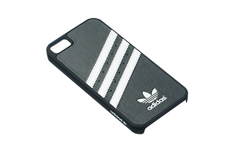 iPhone 5s moulded cover white lines on black