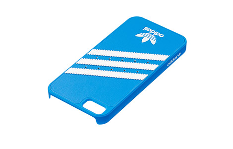 iPhone 5s moulded cover white lines on blue