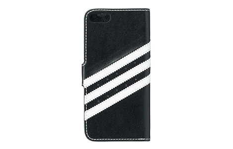 iPhone 5s booklet case white lines on black★冬フェス対象★