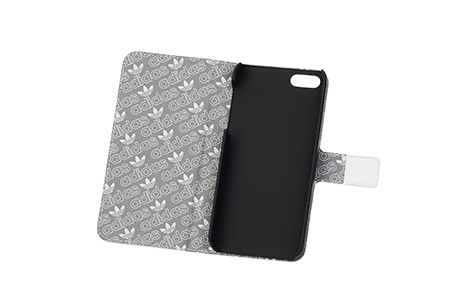 iPhone 5s booklet case black lines on white