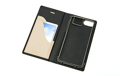 GRAMAS Full Leather Case for iPhone 7/Black×Beige