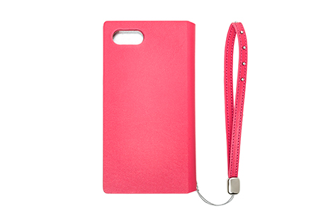 GRAMAS FEMME STZ Flap Leather Case for iPhone 8/ピンク
