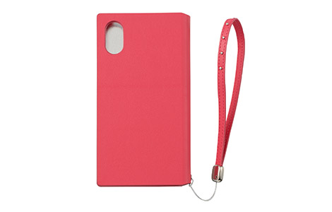 GRAMAS FEMME STZ Flap Leather Case for iPhone X/ピンク