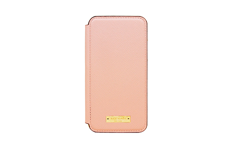 iPhone X用 kate spade(R)ブックタイプケース/ピンク
