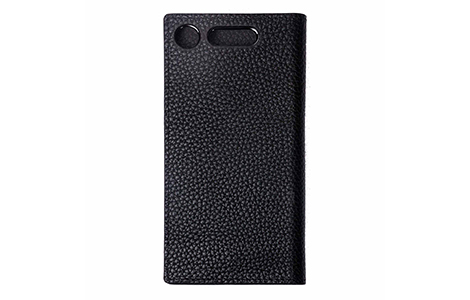 LORNA PASSONI Kipskin Leather Folio Case Xperia(TM) XZ1/Black