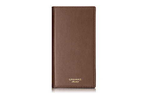 GRAMAS Full Leather Case Limited for iPhone 8/Brown