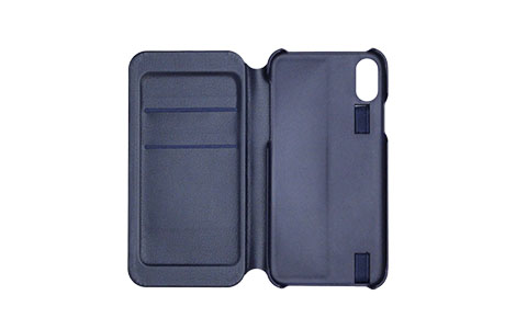 Rollbahn(R) flapcase for iPhone XS/navy