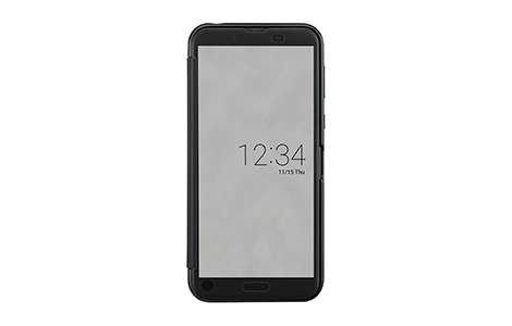 AQUOS Frosted Cover for AQUOS sense2/Nuance Black