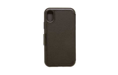 OtterBox SYMMETRY LEATHER FOLIO for iPhone XS/Black