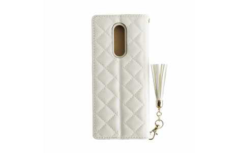 Xperia 1 GRAMAS COLORS QUILT Leather Case/White